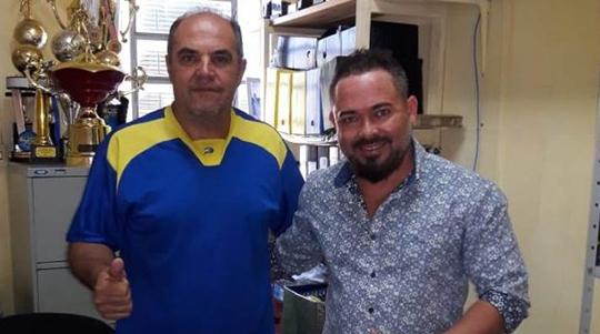 Diretor de Esportes de Inúbia Paulista, Silvio Lima, firma parceria com empresário Edgar Soares Pereira (Foto: Divulgação).