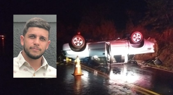 Daniel Mangaia não resistiu aos ferimentos e morreu após o acidente (Redes Sociais/PM Rodoviária).