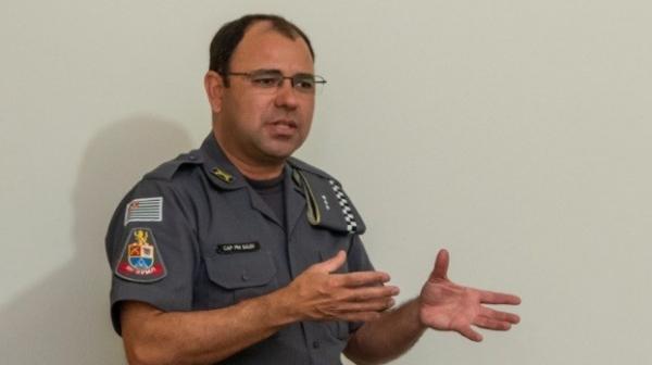 Capitão Sales, novo comandante da Polícia Militar de Adamantina (Foto: Leonardo Ungari/Reprodução: 4ª Cia PM).