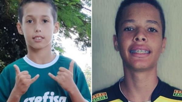 Kauã, campeão sub-13 e Guilherme, campeão sub-15, do 1º Torneio de Embaixadinhas Online ? Embaixafut (Divulgação/Instituição Capaz).