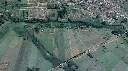 Área tem 196 mil metros quadrados e fica entre a vicinal Adamantina/Mariápolis e os fundos do residencial Vista Verde (Imagem: Google).