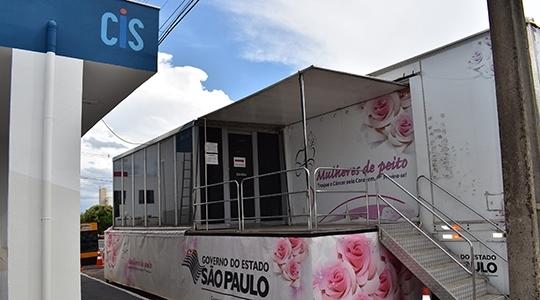 Prefeitura informa que após identificado problema, técnico trabalha na recuperação do equipamento, na carrega Mulheres do Peito (Divulgação).