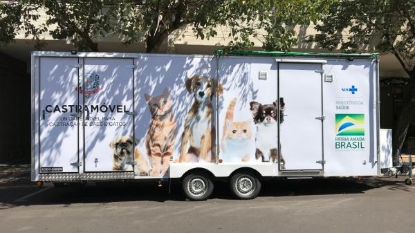 Quando entrar em operação, cães e gatos serão castrados na unidade móvel (Foto: Siga Mais).