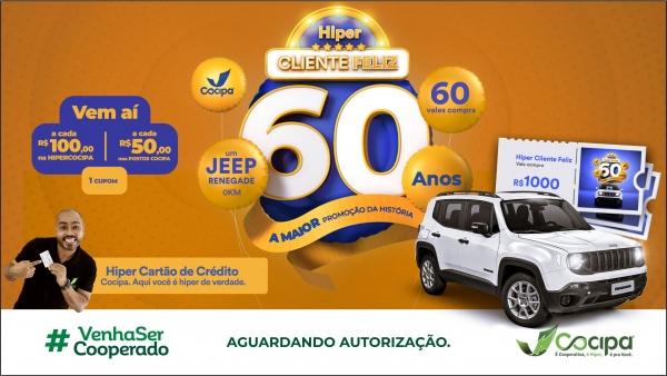 Premiação é comemorativa aos 60 anos da Cocipa (Divulgação/Cocipa).