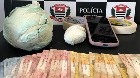 Mais de setecentos gramas de cocaína foram localizados e apreendidos pela Polícia Civil (Reprodução/Site Tupã Notícias).