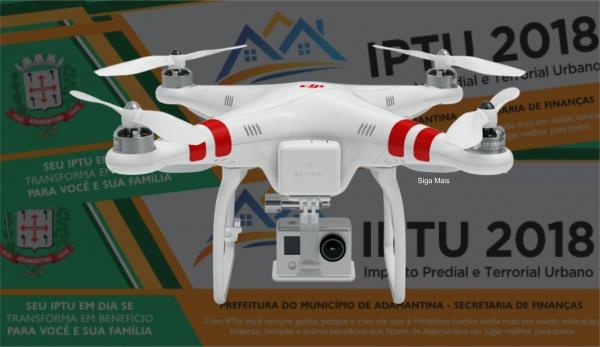 População reage aos valores lançados nos carnês do IPTU. Pode ter havido falha na atualização da área edificada dos imóveis, em serviço de imagem realizado com drone (Arte: Siga Mais).