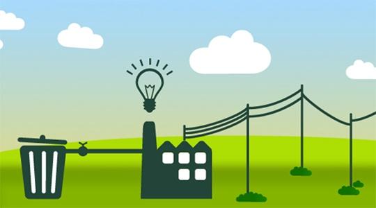 Lixo gerado na cidade pode alimentar usina e gerar energia elétrica (Ilustração)