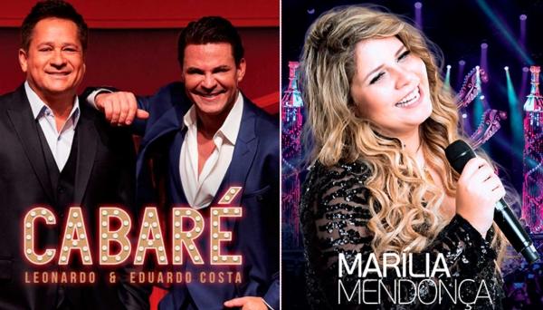 Cabaré, com Leonardo e Eduardo Costa, e Marília Mendonça, são duas das atrações anunciadas pela Cabeludo Eventos, para a EXAPIT.