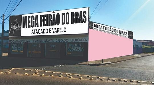Mega Feirão do Brás vai estar localizado na entrada da cidade de Inúbia Paulista (Ilustração).