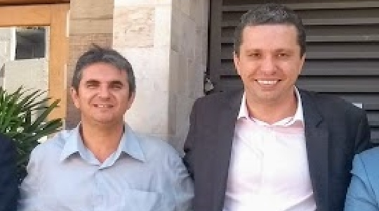 Toninho Sonobom, presidente do partido Progressistas em Adamantina, e o deputado federal Fausto Pinato (Arquivo).