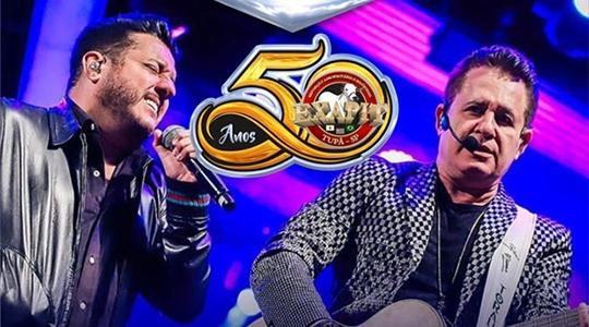 Dupla Bruno & Marrone abre nesta quinta-feira (15) a programação de shows da Exapit (Divulgação).
