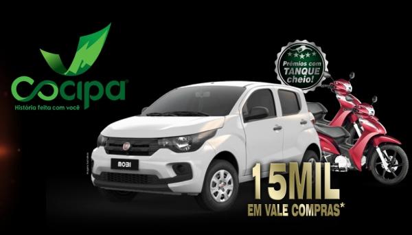 Campanha Cliente Feliz oferece 33 prêmios: um carro, duas motos e 30 vale-compras de R$ 500 (Divulgação).