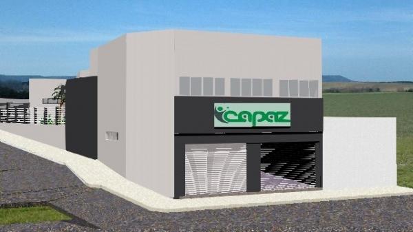 Perspectiva final do projeto de ampliação e modernização das instalações da Instituição Capaz (Divulgação).