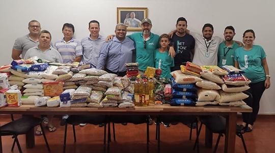 Alimentos entregues na clínica PAI Nosso Lar (Da Assessoria).