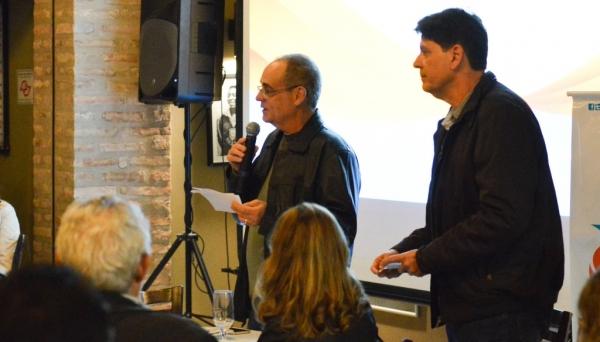 Gabriel Alves Pereira Junior, diretor-presidente da Energisa Sul-Sudeste e José Adriano Mender Silva, diretor técnico-comercial da Energisa Sul-Sudeste (Foto: Da Assessoria).