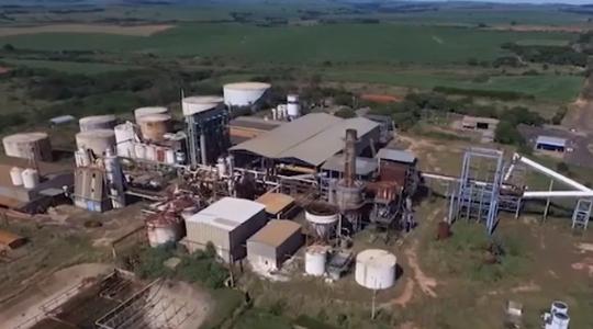 Usina Floralco foi arrematada em leilão judicial na tarde desta segunda-feira (Imagens: Teza Leilões).