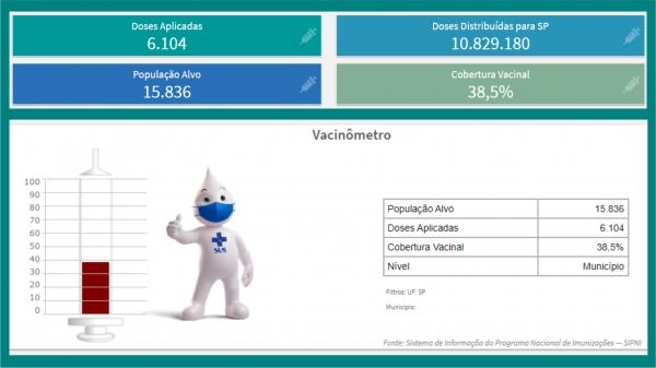 Dados da cobertura vacinal contra a gripe em Adamantina, em 27 de maio de 2021 (fonte: Sistema de Informação do Programa Nacional de Imunizações ? SIPNI).