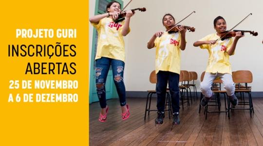 Cursos oferecidos pelo Polo do Projeto Guri em Adamantina são cordas friccionadas, sopros, iniciação musical, coral infanto juvenil, e percussão (Divulgação).