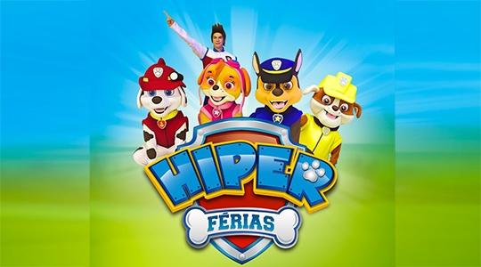 Hiper Cocipa abre neste domingo, das 8h às 12, e recebe a Patrulha Canina a partir das 10h (Divulgação).