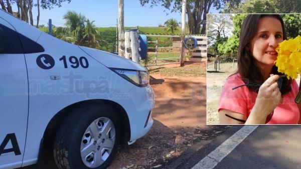 A taxista Valeria Molina Catirce Okubi, de  46, dona da chácara, morreu após ser atacada pelo inquilino, que não aceitava deixar o imóvel (Foto: Cristiano Nascimento/Mais Tupã).
