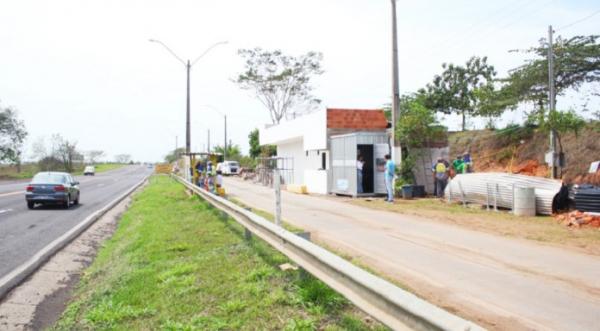 No local, o DER construiu um prédio que abrigará o posto fixo da balança (Foto: Lucas Mello/Jornal Regional/Portal Regional).