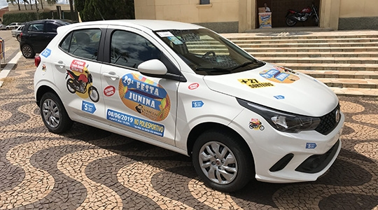 Automóvel Fiat Argo zero quilômetro é o principal prêmio do sorteio. Cupons à venda por R$ 5,00 (Foto: Siga Mais).