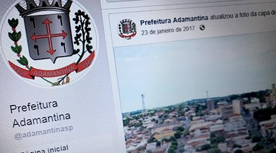 Projeto que obriga Prefeitura de Adamantina a utilizar redes sociais no relacionamento com o cidadão, aprovado por unanimidade pela Câmara Municipal, agora depende da sanção e promulgação pelo prefeito (Reprodução).