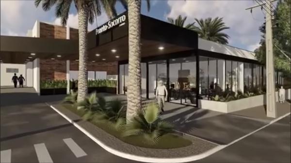 Obras vão ampliar e modernizar o pronto-socorro da Santa Casa de Adamantina (Perspectiva do projeto/Reprodução).