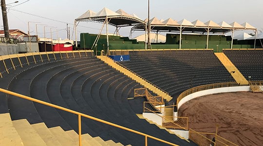 Recinto Poliesportivo recebe público de Adamantina e região de hoje (4) até domingo (8), durante a Expoverde (Foto: Siga Mais).