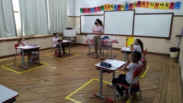 Sala de aula na rede municipal de ensino de Adamantina (Da Assessoria).