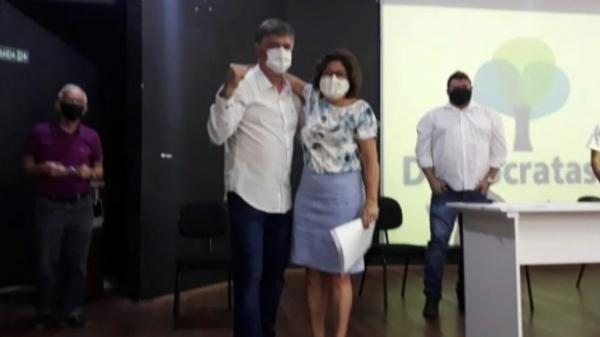 Vereadora Dinha é anunciada pré-candidata a vice-prefeita na chapa com Márcio Cardim (Reprodução).