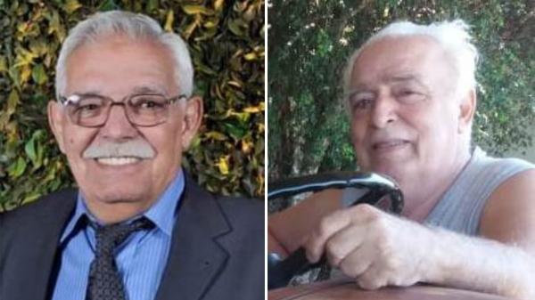 Os irmãos gêmeos Percyval Lopes e Percy Lopes Junior, de 72 anos (Reprodução: Funerária Lucélia).