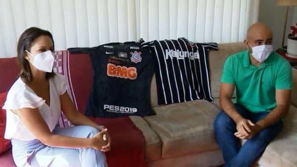 Os irmãos Natália e Vinícius Rocha do Prado, de Adamantina (Reprodução/TV Fronteira).