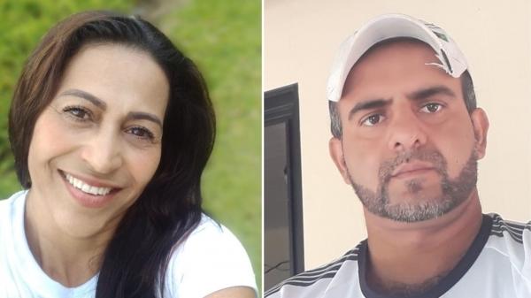 Rita Fagundes Rocha, de 49 anos, foi morta a facadas pelo marido, Sandro Alécio Bispo, de 41 anos (Redes Sociais).