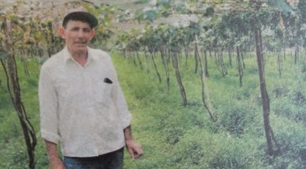 Jair Stochi, na sua produção de uvas. Produtor rural foi vítima de acidente envolvendo trator que ele mesmo conduzia (Reprodução/Junqueirópolis em Dia).