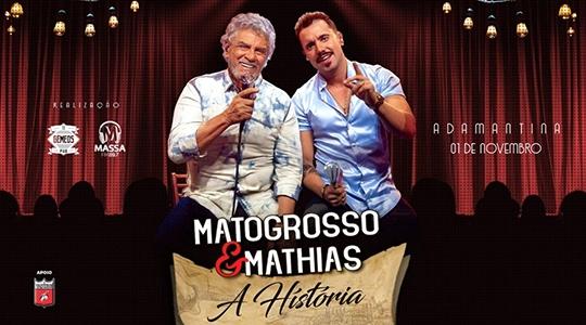 Show de Matogrosso & Mathias acontece nesta sexta-feira, em Adamantina (Divulgação).