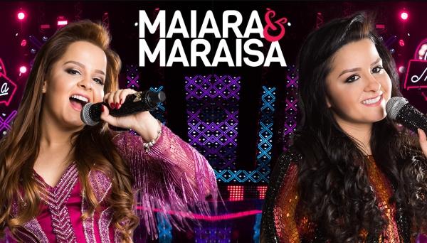 Maiara e Maraisa sobem ao palco do recinto poliesportivo, na noite desta quinta-feira, no Adamantina Rodeo Festival (Foto: Divulgação).
