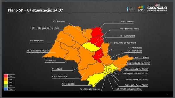 Plano São Paulo: Adamantina e cidades das regiões de Prudente e Marília permanecem na fase laranja