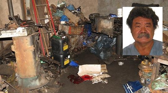 Mecânico Antonio Mitsuyasu Kitahara, de 63 anos, foi encontrado sem vida, caído no chão da oficina, com ferimento na cabeça (Foto: Site Jorge Zanoni)