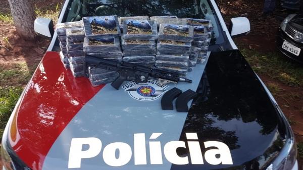 Materiais apreendidos pela PM foram levados à Polícia Federal (Foto: Cedida/PM).