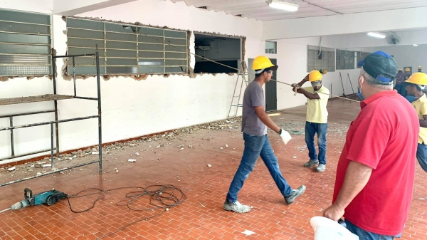 Obras foram iniciadas na Clínica PAI Nosso Lar (Fotos: No Click com o Senhor).