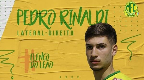 Pedro Rinaldi, agora no elenco profissional do Mirassol (Divulgação/Mirassol F.C.).