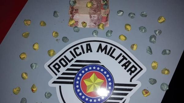 Parte da droga apreendida na operação, pela Polícia Militar (Foto: Cedida/PM).
