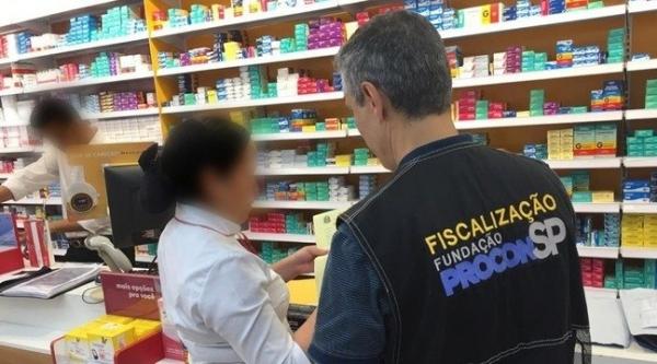 Farmácias e supermercados foram os dois setores que mais sofreram autuações nos últimos dois meses (Divulgação/Procon.SP).