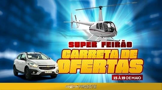 Campanha da Proeste Adamantina oferece veículos novos, seminovos e consórcio com condições especiais e dá voo de helicóptero (Divulgação).