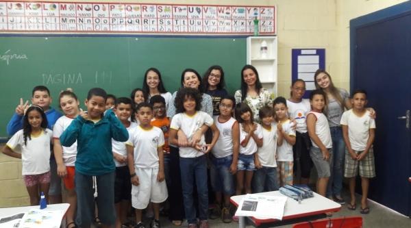Alunos de licenciatura vivenciam docência por meio do Programa Residência Pedagógica (Foto: Acervo Pessoal).