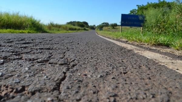 Os 26,4 km da vicinal Plácido Rocha deverão receber obras de recapeamento e sinalização,  orçadas em quase R$ 18 milhões (Arquivo/Siga Mais).