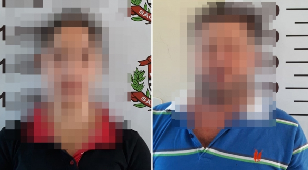 Dupla de golpistas foi presa pela Polícia Civil de Adamantina, em operação realizada pela DIG/DISE (Fotos: Cedidas/Polícia Civil).