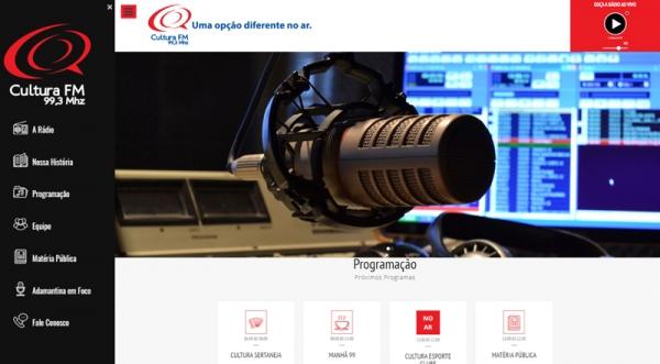 Rádio Cultura FM lança novo site