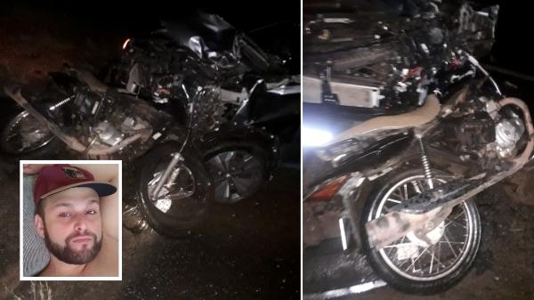 Aurélio Moura da Costa, condutor da moto, morreu no local do acidente (Reprodução/Redes Sociais).